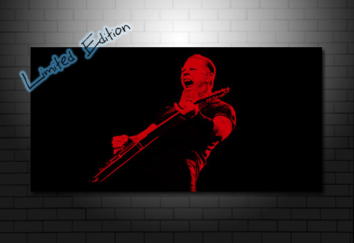 James Hetfield canvas wall art print, metallica canvas art, metallica canvas print, james Hetfield art, james Hetfield canvas art
