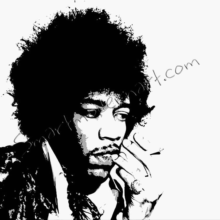 Jimi Hendrix Canvas Art Wall