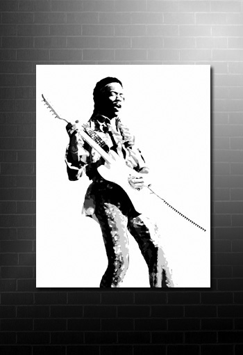 jimi hendrix canvas, hendrix pop art, large hendrix canvas, jimi hendrix print, jimi hendrix wall art
