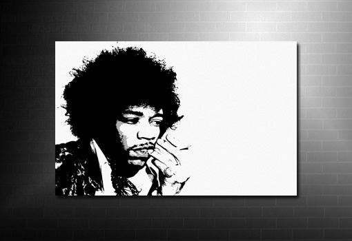 Jimi Hendrix Wall Art print, music canvas art uk, jimi hendrix print, canvas art prints uk, hendrix canvas art