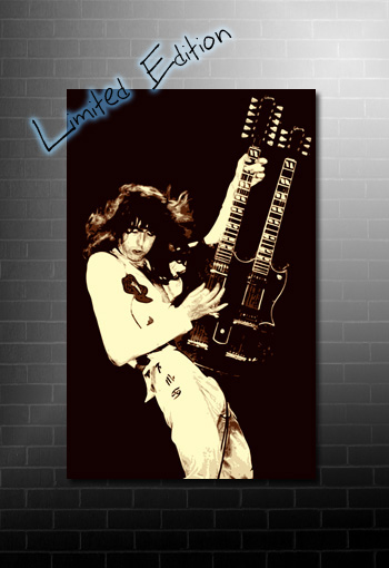 Jimmy Page canvas art