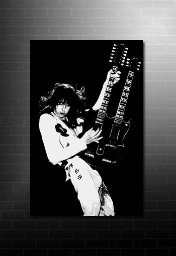 Jimmy Page canvas wall art