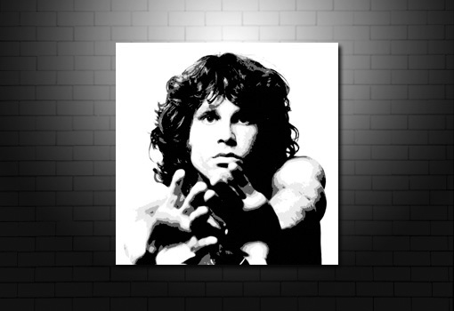 Jim Morrison Canvas Art print, Jim Morrison artwork, Jim Morrison print, Jim Morrison pop art, Jim Morrison wall art