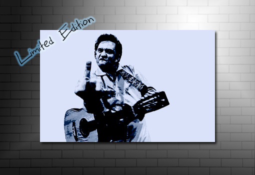johnny cash canvas print, johnny cash music print, johnny cash art, Johnny Cash Wall Art