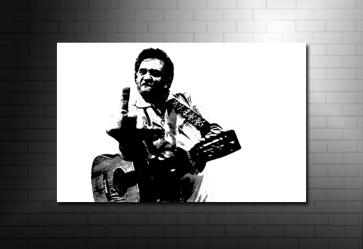 Johnny Cash Wall Art, johnny cash canvas print, johnny cash music print, johnny cash art, johnny cash print