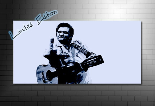 johnny cash art print, johnny cash canvas print, johnny cash art, Johnny Cash Wall Art