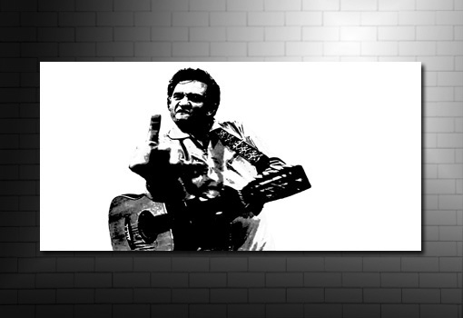 johnny cash art print, johnny cash canvas print, johnny cash music print