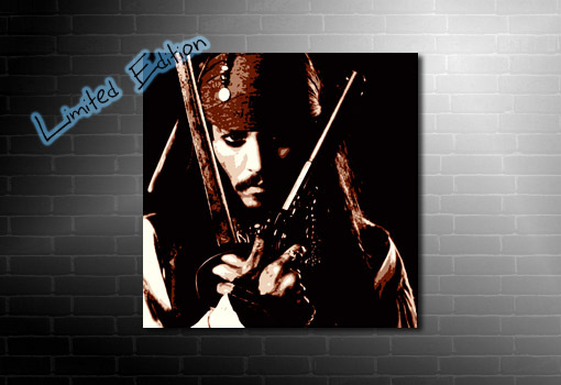 Johnny Depp Canvas wall art, johnny depp movie print, johnny depp art, johnny depp print, Johnny Depp Canvas Art
