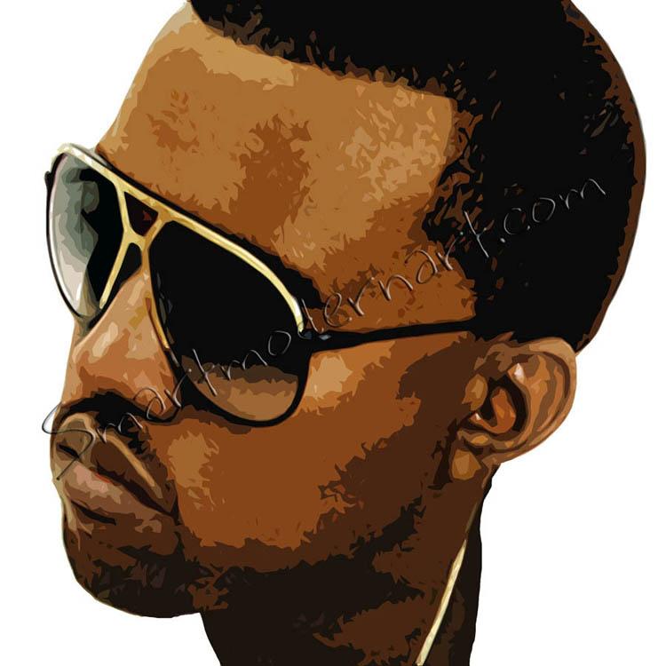 Music Wall Art Kanye West