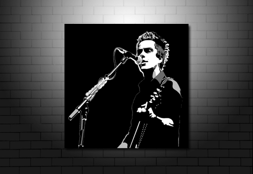 kelly jones canvas art print, kelly jones pop art, kelly jones wall art, stereophonics canvas print