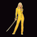 kill bill canvas print, kill bill canvas art, kill bill wall art, uma thurman canvas art