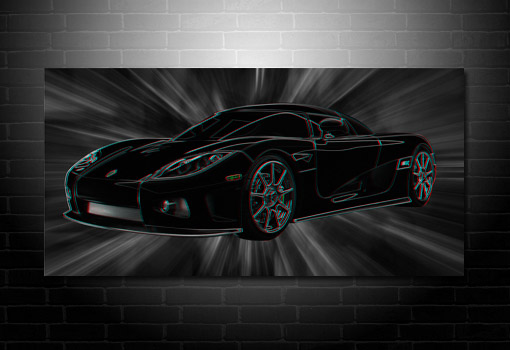 Koenigsegg Canvas Art, 3d canvas art, supercar on canvas