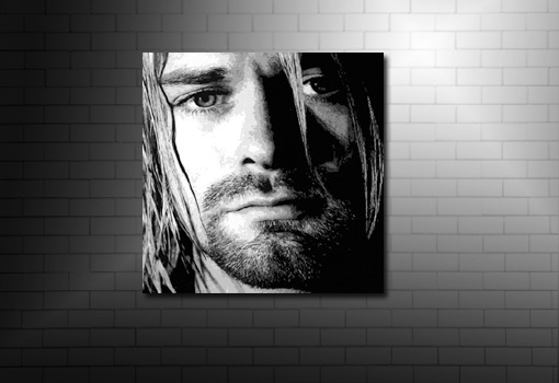 Kurt Cobain canvas art print, kurt cobain canvas, kurt cobain pop art, kurt cobain music print, nirvana band canvas