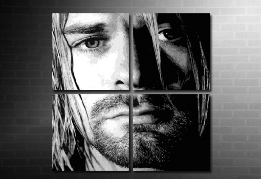 Kurt Cobain large canvas wall art, kurt cobain canvas, kurt cobain wall art, kurt cobain pop art, nirvana band canvas