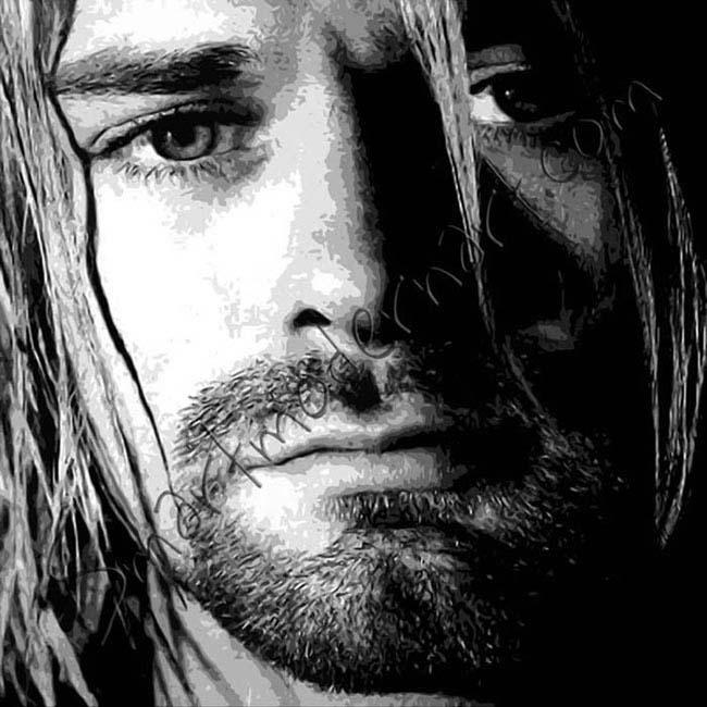 Kurt Cobain canvas art,