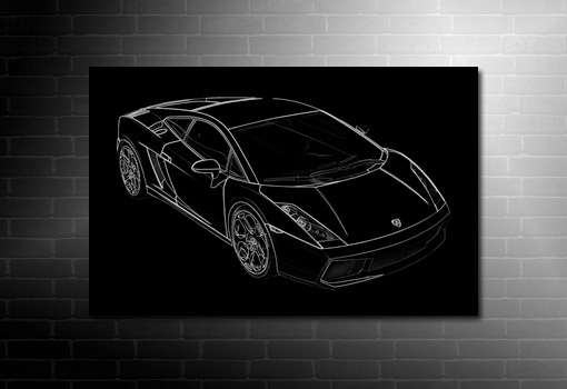 Lamborghini Canvas, cars canvas art print, cars on canvas