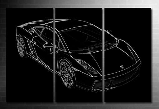 Lamborghini canvas print, lamborghini photo print, lamborghini on canvas