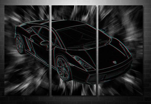Lamborghini canvas print, Lamborghini wall art