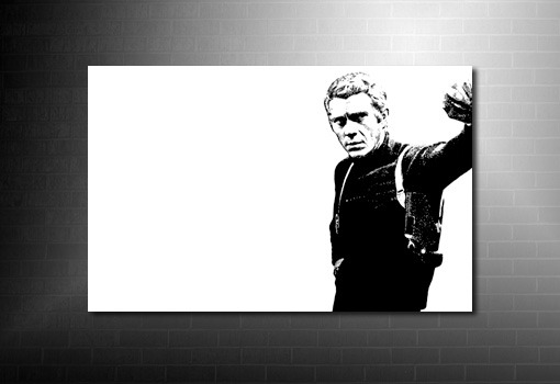Steve McQueen Canvas Art, steve Mcqueen wall art, Steve McQueen Canvas Art, bullitt movie print, steve mcqueen pop art