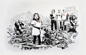 banksy art media, banksy wall art, banksy graffiti art, banksy media canvas, banksy prints uk