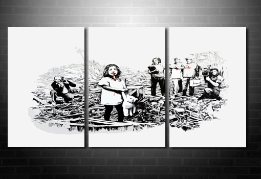 Banksy Media wall art, banksy media art, Banksy Canvas Art Media, banksy wall art, cheap banksy art uk