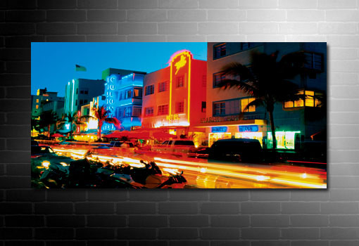 Miami cityscape canvas, miami beach art