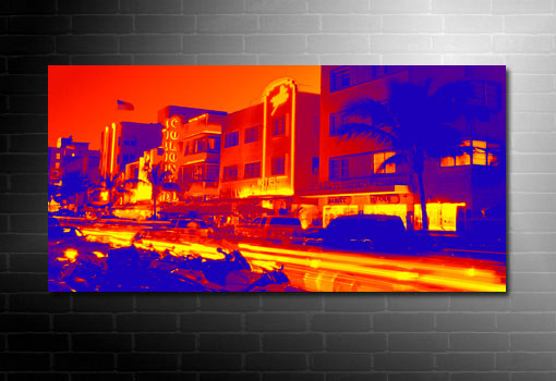 miami beach canvas art, miami wall art