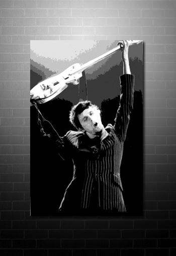 muse canvas print, matt bellamy wall art, matt bellamy canvas print, muse canvas, matt bellamy canvas art