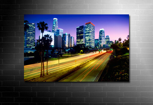 abstract cityscape canvas, time lapse canvas
