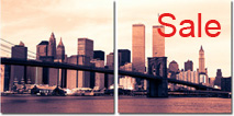 brooklyn bridge canvas art, bew york cityscape canvas