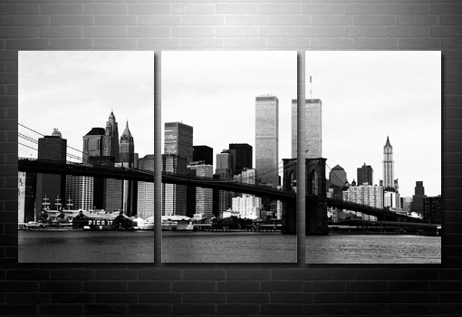 Manhattan Skyline Wall Art, New York City Canvas