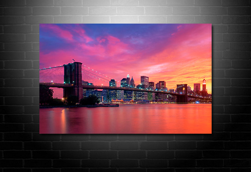 Cityscape Canvas, Cityscape Wall Art, New York City Canvas