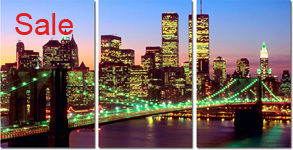 downtown manhattan canvas art prints