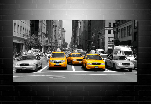New York canvas taxi art, new york taxi art