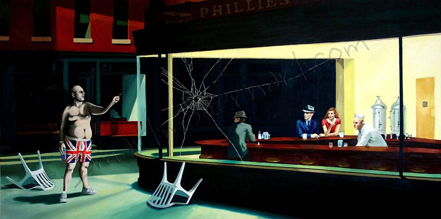 Banksy Print Nighthawks
