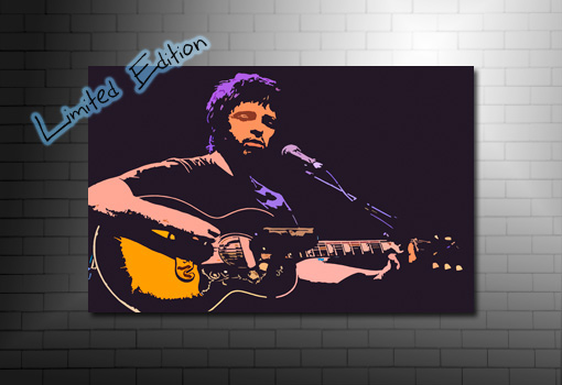 noel gallagher limited edition canvas, noel gallagher canvas, noel gallagher print, noel gallagher pop art, noel gallagher wall art