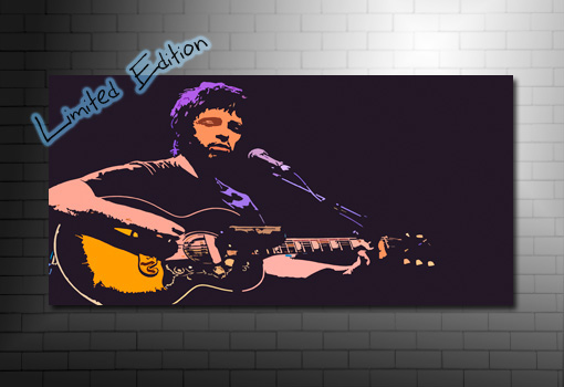 noel gallagher giclee canvas art, noel gallagher canvas, noel gallagher print, noel gallagher wall art