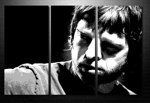 noel gallagher large canvas print, oasis black and white canvas, noel gallagher canvas, oasis canvas
