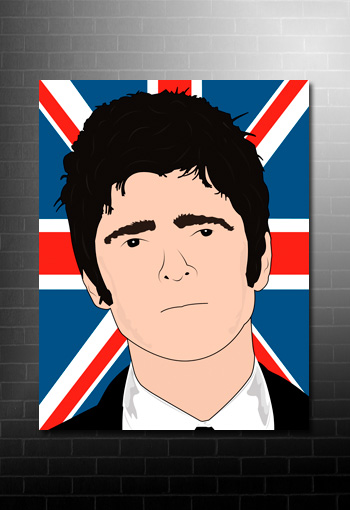 noel gallagher opie style canvas, noel gallagher canvas, noel gallagher wall art, noel gallagher canvas picture