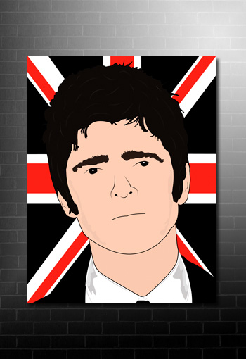 noel gallagher canvas pop art, noel gallagher canvas, noel gallagher wall art