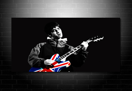 noel gallagher canvas art, noel gallagher union jack wall art, noel gallagher canvas, noel gallagher print, noel gallagher wall art, oasis canvas print