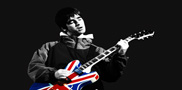 noel gallagher canvas print, oasis wall art, oasis canvas print, canvas art, noel gallagher union jack art, canvas art cheap uk