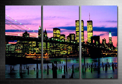 New York Canvas print, Manhattan Skyline Wall Art
