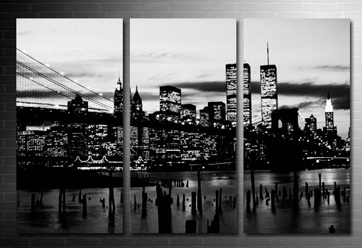 new york city canvas art, Brooklyn Bridge Canvas, New York Skyline Canvas