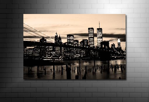 Manhattan skyline wall art new york city canvas