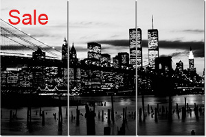 new york cityscape monochrome, new york wall art