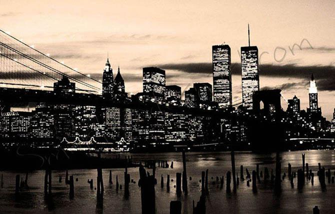 new york city canvas monochrome. Black Bedroom Furniture Sets. Home Design Ideas