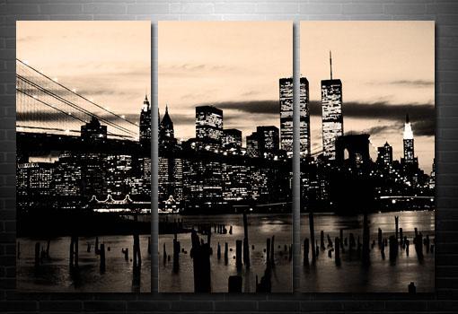 New York Canvas print, Manhattan Skyline Wall Art