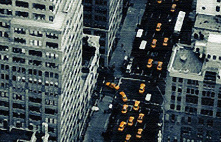 cityscape wall art, new york taxi wall art