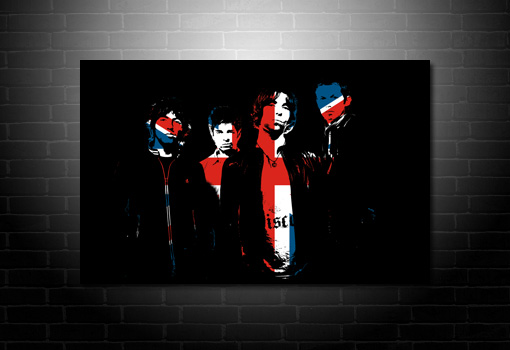 noel gallagher union jack canvas, oasis union jack canvas, oasis canvas print, music canvas art uk, music canvas art prints, liam and noel gallagher canvas